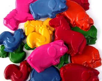 Party Pack of 20  Farm Animal Crayons