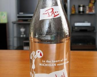1960s Blossomland Beverages Pop Bottle
