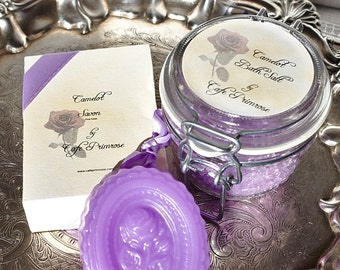 Camelot Set Bath Salts And Bar Of Soap Moisture Rich Healthy For Skin -Literature Collection-
