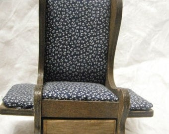 80s rocking chair pin cushion with storage drawer