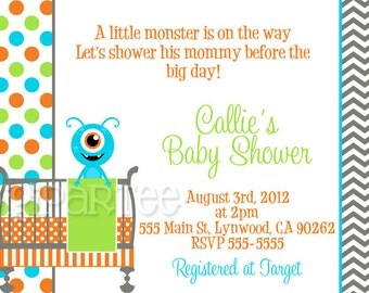 Monster Baby Shower Invitation