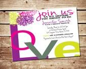 Printable Love Bridal Shower Invitation