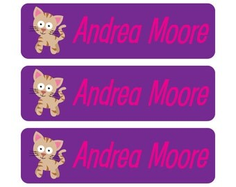 Personalized, waterproof, dishwasher-safe, vinyl baby bottle labels - Customizable