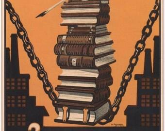 USSR propaganda, Art and prints, Poster, Old print, 128