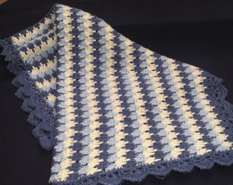 Crochet Pattern Baby Blanket Afghan, Raindrops PDF 12-013 INSTANT DOWNLOAD