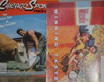 Vintage 1989 Chicago Sports Profiles Quarterly Magazine Featuring Dan Hampton