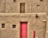 Taos Pueblo 4 photograph - decorative photography print - wall art - home decor - Native American architecture - HDR photo - multiple sizes