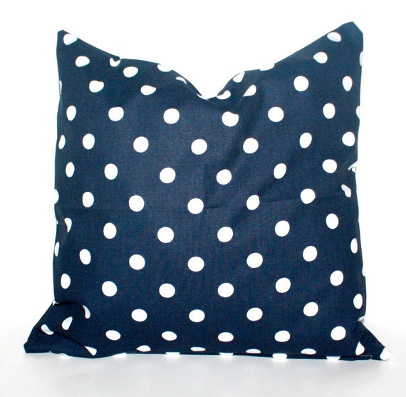 Navy Blue Throw Pillow Covers : Navy Blue DECORATIVE PILLOW Cover Accent Throw by ThePillowFight