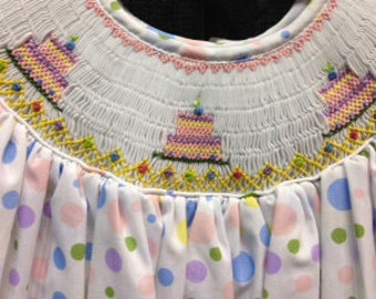 Smocked Birthday Dress