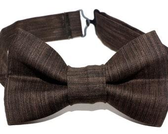 Bow Tie - Brown Wood Grain Bowtie