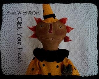 E Pattern  Annie Witch & Otis The Cat Pattern
