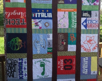 Made-to-order T-shirt Quilt PLUS t-shirt scarf