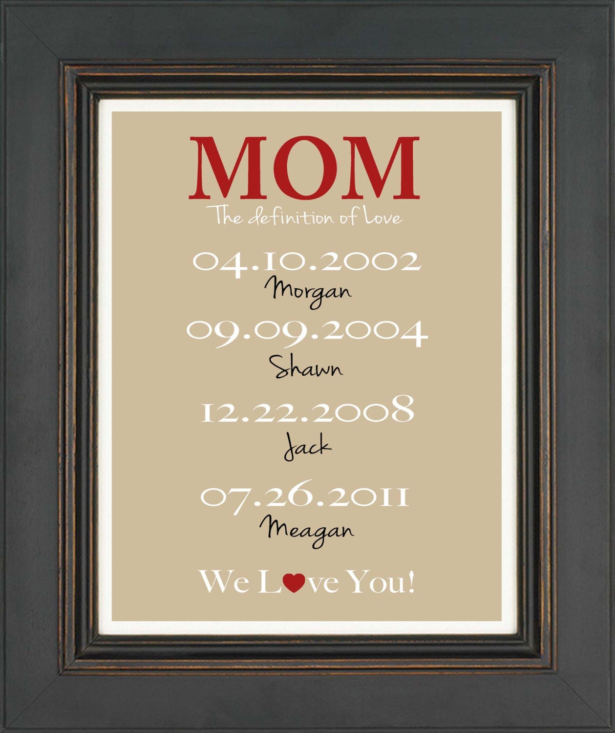 Personalized Mom Gift Print Gift For Mother Mother 39 S