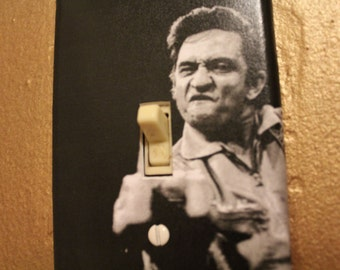 Johnny Cash Middle Finger Light Switch Cover Plate
