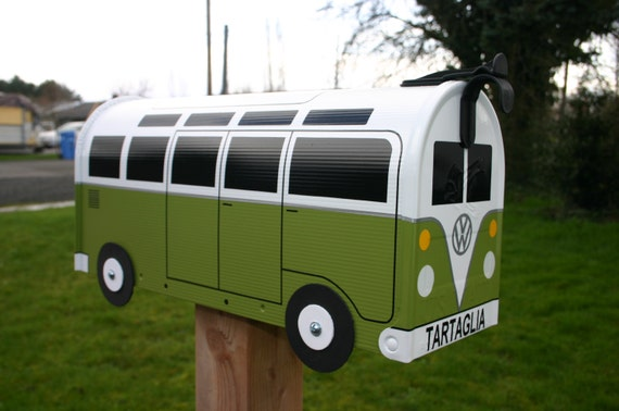 21 Window Custom Made To Order Volkswagen Bus Mailbox by TheBusBox - Choose Your Color - 21WinBusBox