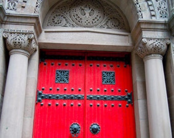 "Red Door Philly Photograph, 5""x7"""