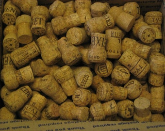 250 Natural Used Champagne Corks