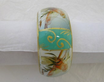 Hand painted and glazed meta BRACELET