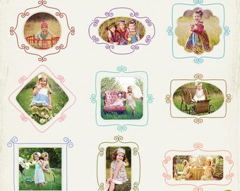 INSTANT DOWNLOAD - FE5  18 Digital Picture Frames Collection
