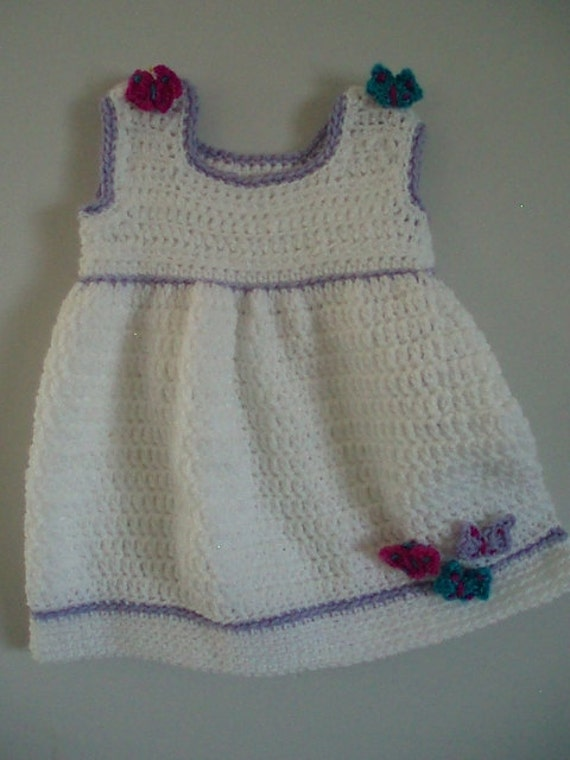 baby and toddler dress and matching shoes crochet pattern
