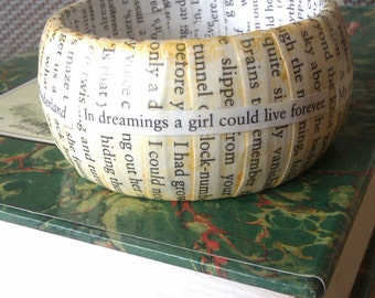 Alice in Wonderland inspired Literary Bangle