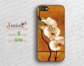 black Iphone 5 case,iphone cases 5,iphone 5 cover,iphone 4 cases,apple iphone case 4,butterfly orchild flower printing B121