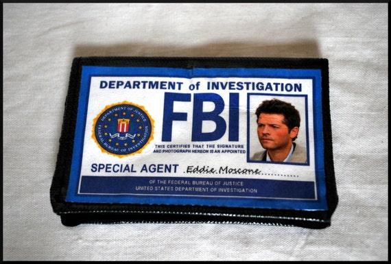 Items Similar To Castiel FBI Mini Wallet -- Vinyl ...