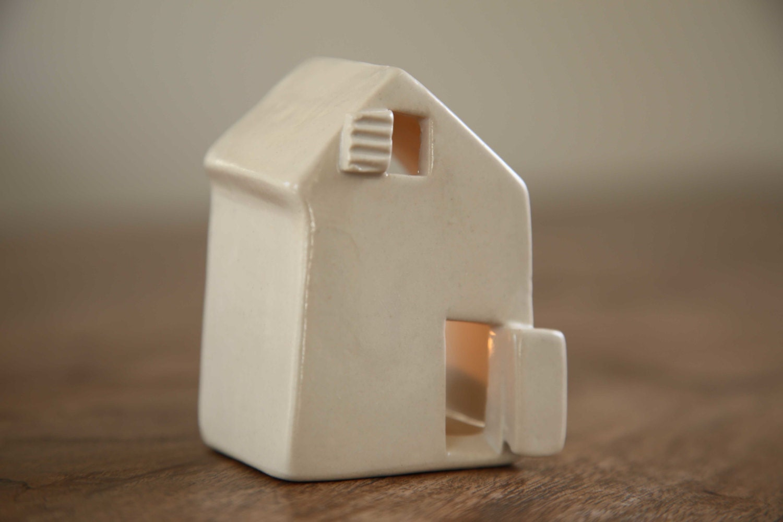ceramic candle holder love houses by simoneceramics on etsy. Black Bedroom Furniture Sets. Home Design Ideas