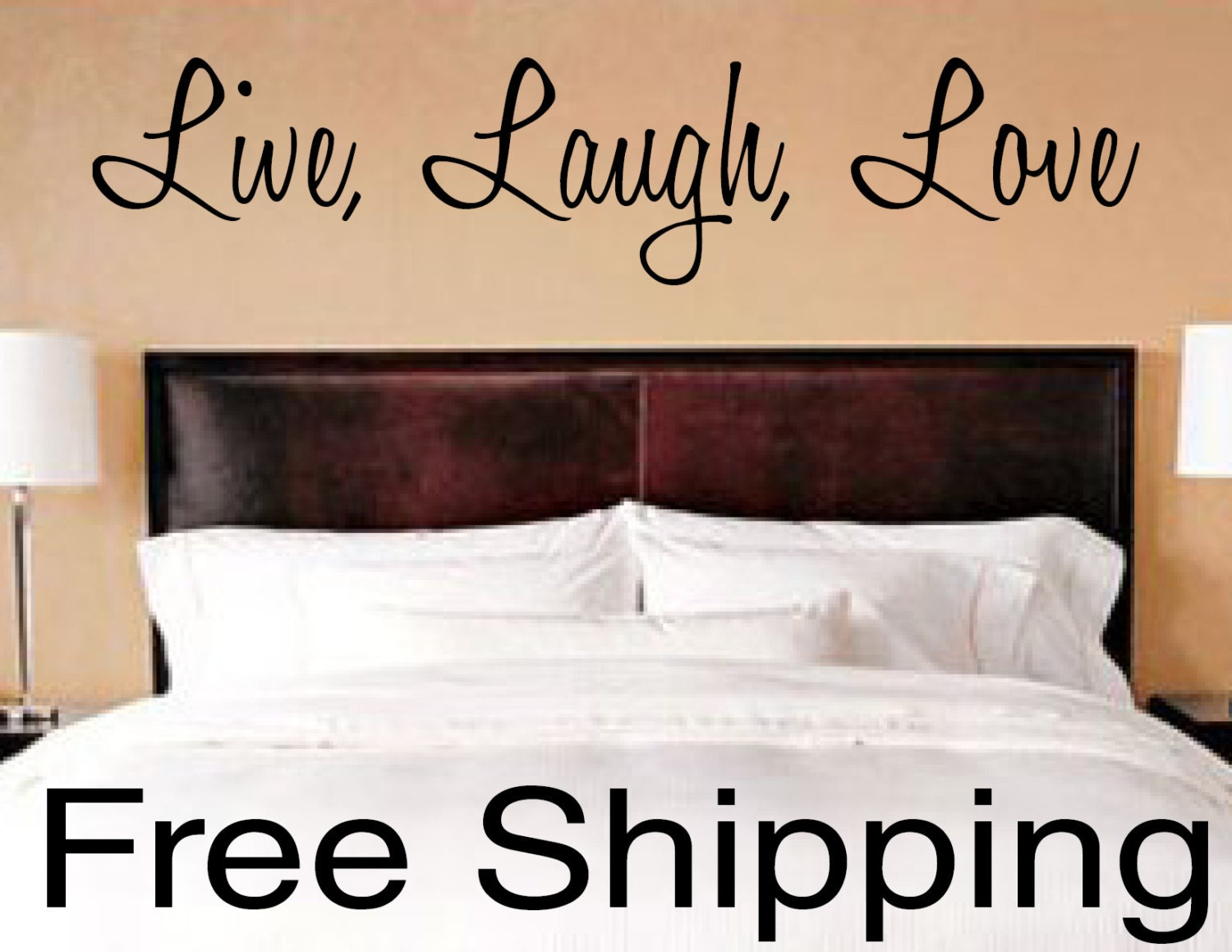 Live laugh love wall vinyl sticker home decor art for Live laugh love wall art