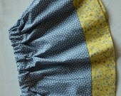 Baby girl/ toddler girl skirt- gray and yellow floral print. Two 2T, One 4T available