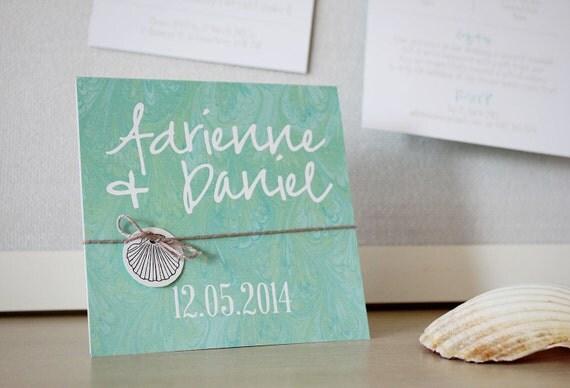 Printable Beach Wedding Invitations: Beach DIY Printable Wedding Invitation By StationeryPolkadot