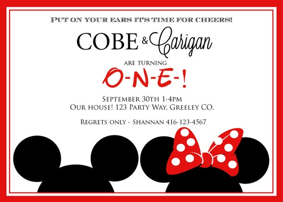 Mickey Mouse Invitations Template was best invitation ideas