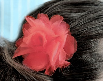 Rosy Pink Begonia Flower Hair Clip