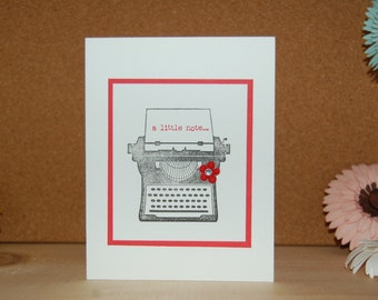 A Little Note- typewriter-Card