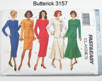Butterick Dress Pattern 3157 - Misses' Top and skirt - Sz 14/16/18