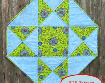 Octagon Table Topper with Star PDF Quilting Pattern (SMS101pdf)