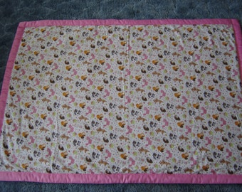 Baby Forest Animal Baby Quilt