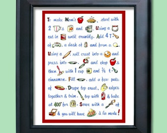 Vintage Apple Pie Recipe Print
