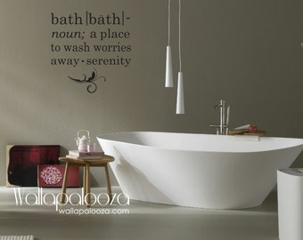 Bathroom Wall Decal - Bath wall decal - Bath meaning wall decal - Bathroom - Spa wall decal