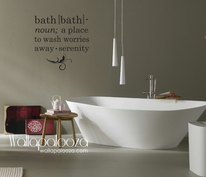 zoom. Bathroom Wall Decal Bath wall decal Bath meaning wall