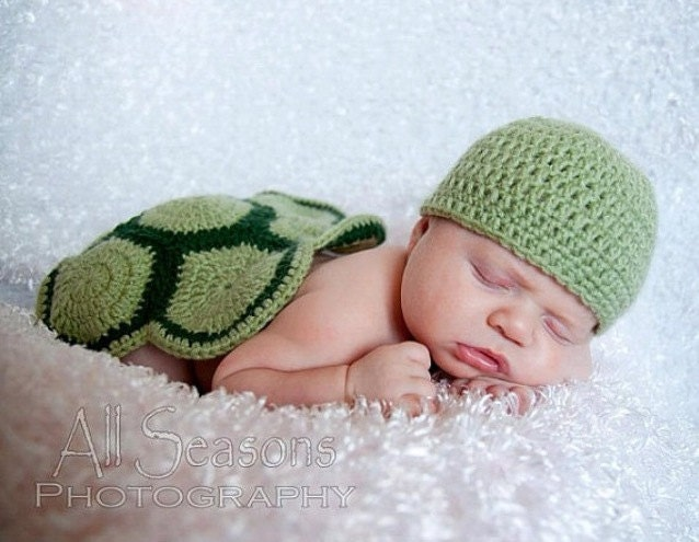 Crochet baby Turtle outfit photo prop by OmgDidYouSeeThat ...