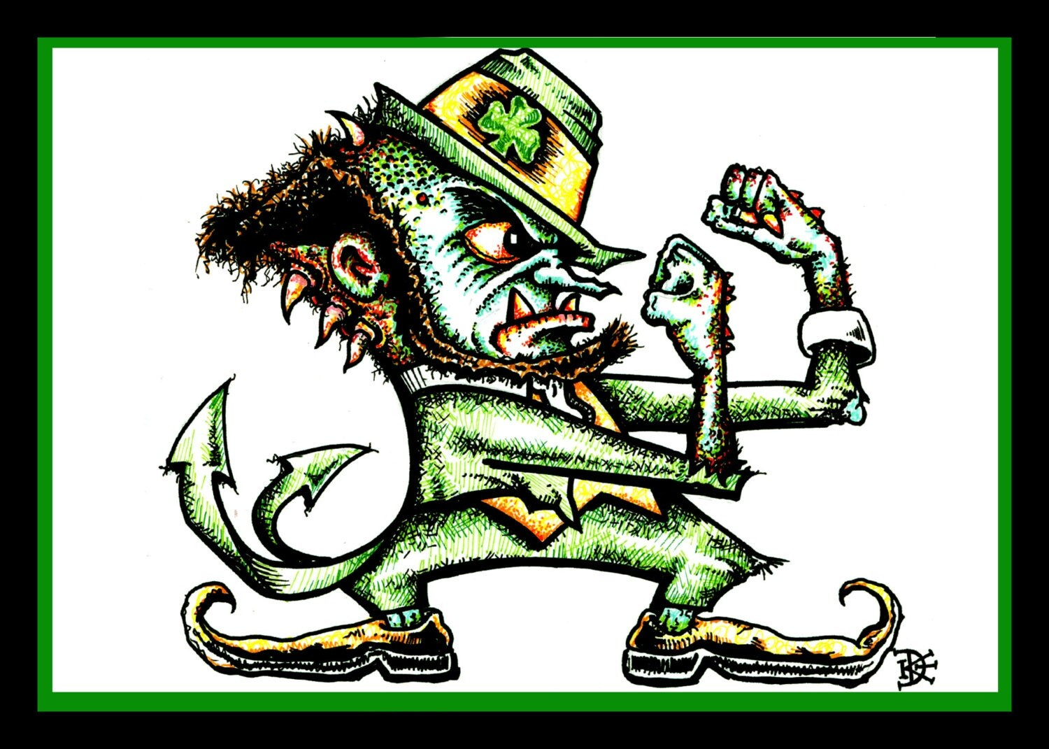 Notre dame fighting irish monster for Notre dame fighting irish coloring pages