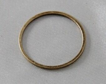 4 pcs - 20mm Round Link Connectors Antique Brass