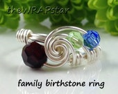 Family Ring Family Birthstone Ring Family Jewelry Personalized Gift for Mom Ring Mothers Ring Unique Ring Gift Ideas for Mom ITEM0354