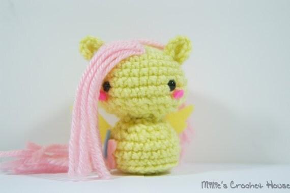 Crochet Fluttershy My Little Pony Amigurumi Toy