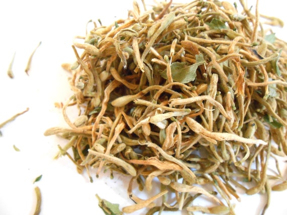 Organic HONEYSUCKLE FLOWERS - Lovely and Romantic - Fresh Spring Summer Tea - Incense and Potpourri