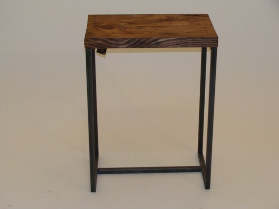 Side Table End Table Modern Industrial