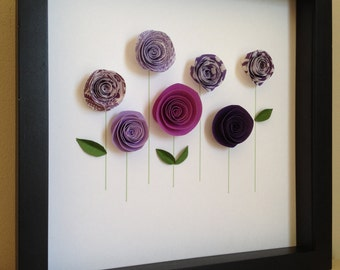 Rose Garden, 3D Paper Art, Customize with your colors and personalize