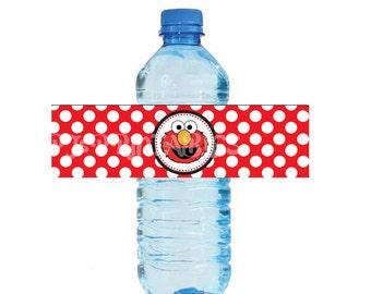 Elmo Sesame Street themed Water Bottle Labels - Customized Digital File