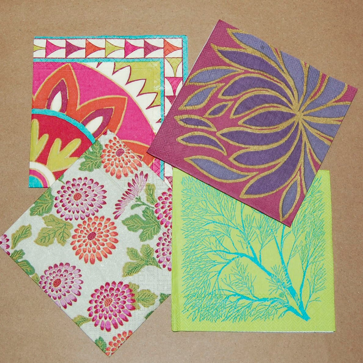 craft ideas with paper napkins decoupage crimson and green set 4 paper napkins for 6335